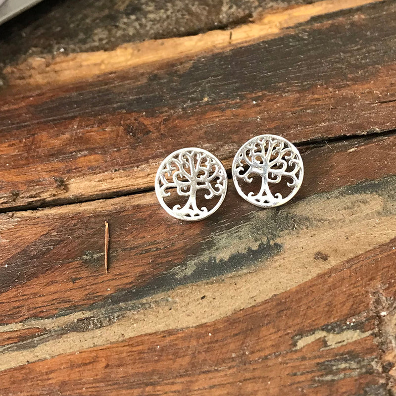 Simple Tree Earrings - Sterling Silver - Quick Ship