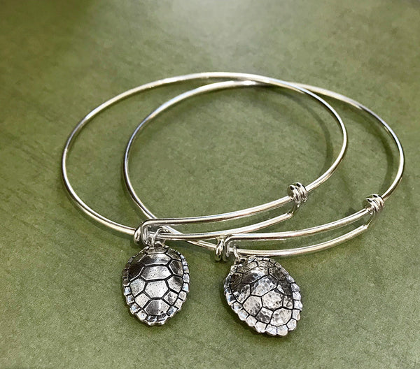 Expandable Sterling Silver Turtle Shell Bracelet