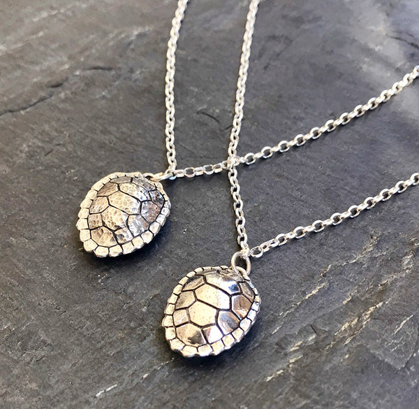 Sterling Silver Small Turtle Shell Necklace