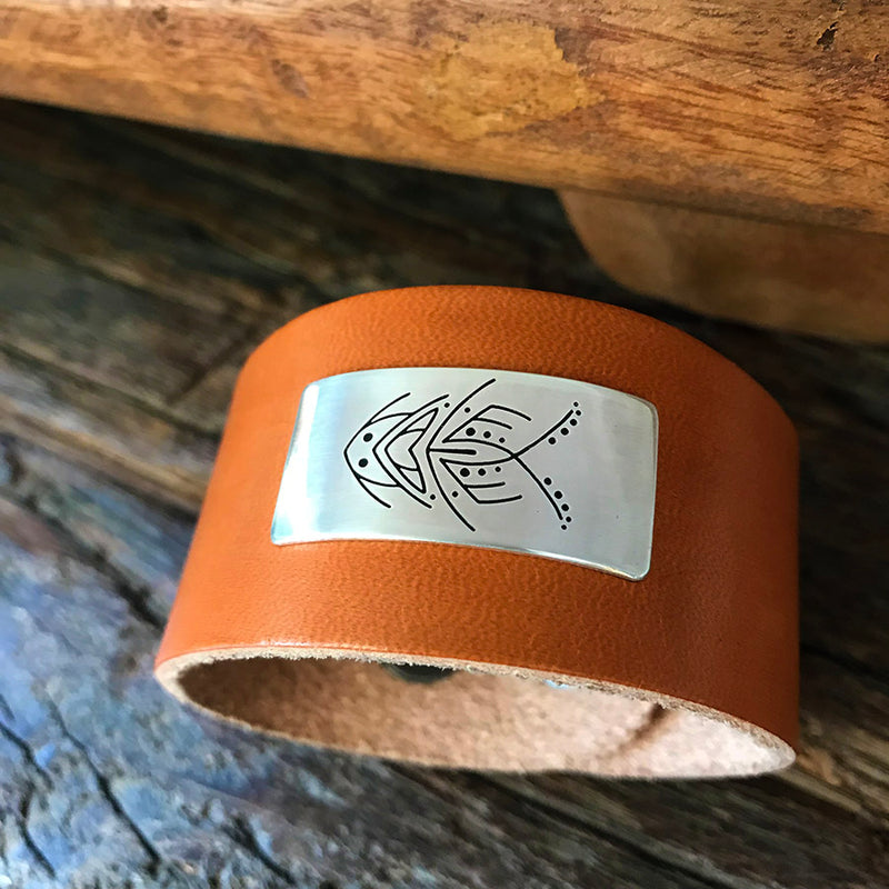 Untamed Name™ Leather and Silver Cuff
