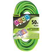EXTENSION CORD 50FT 12/3 NEON GREEN