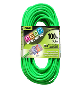 EXTENSION CORD 100FT 12/3 NEON GREEN
