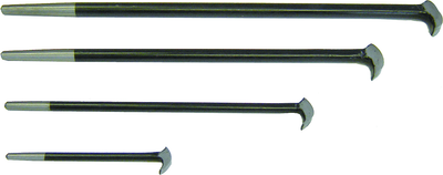 Rodac Rolling Head Pry Bar Set (4-Pieces)