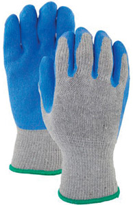 (12)GANTS POLY/COTON LATEX