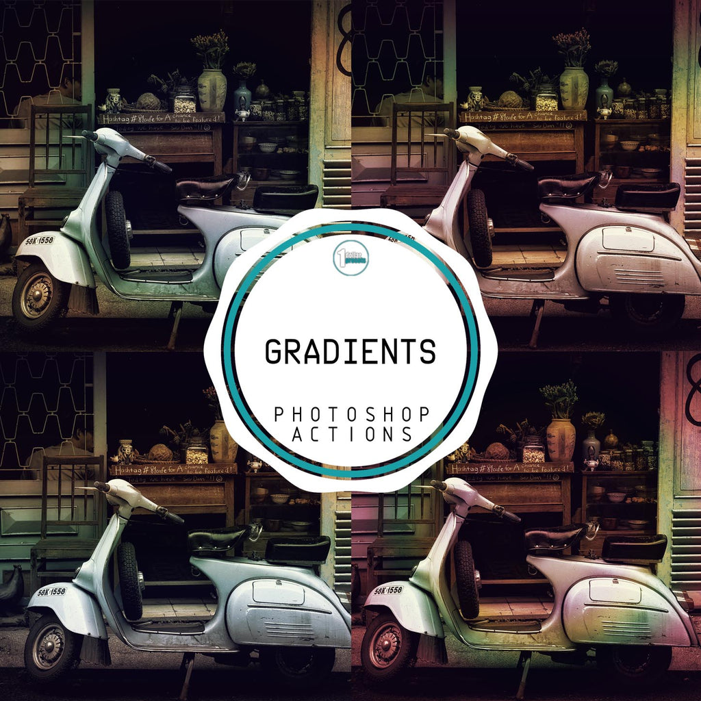 Gradient - 20 Photoshop Actions