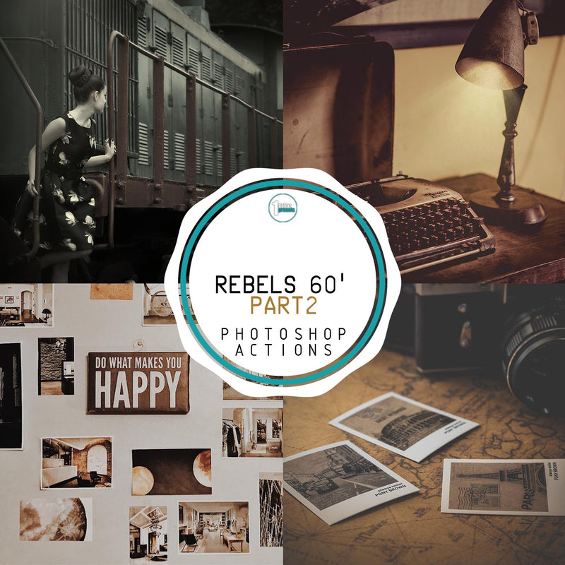 Rebels 60' - Pt.2 - 20 Photoshop Actions