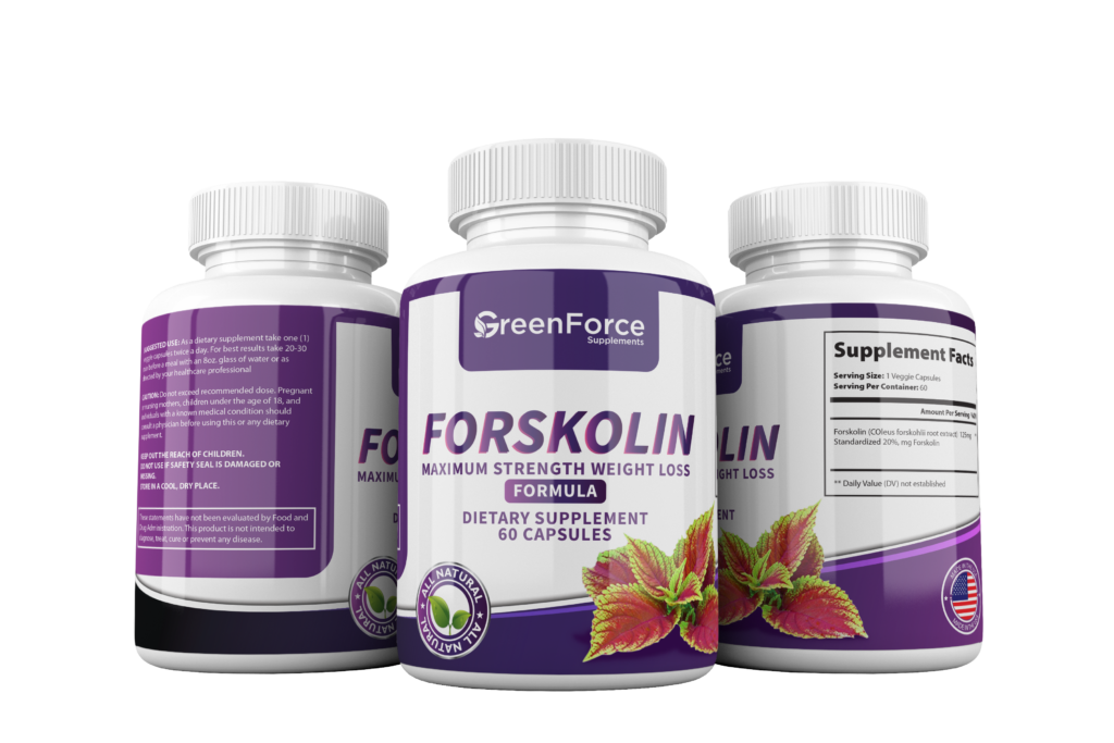 Forskolin Extract 250mg (20% Standardized), 60 Capsules