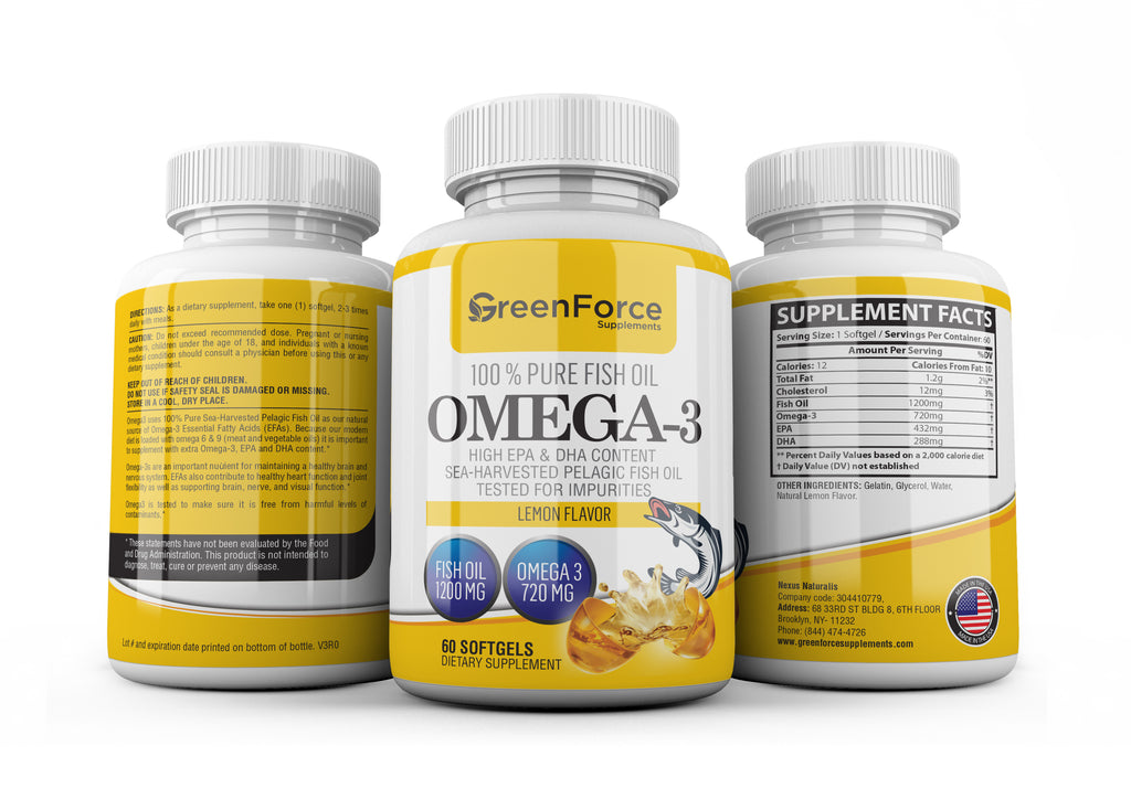 Omega-3 100% Pure Fish Oil