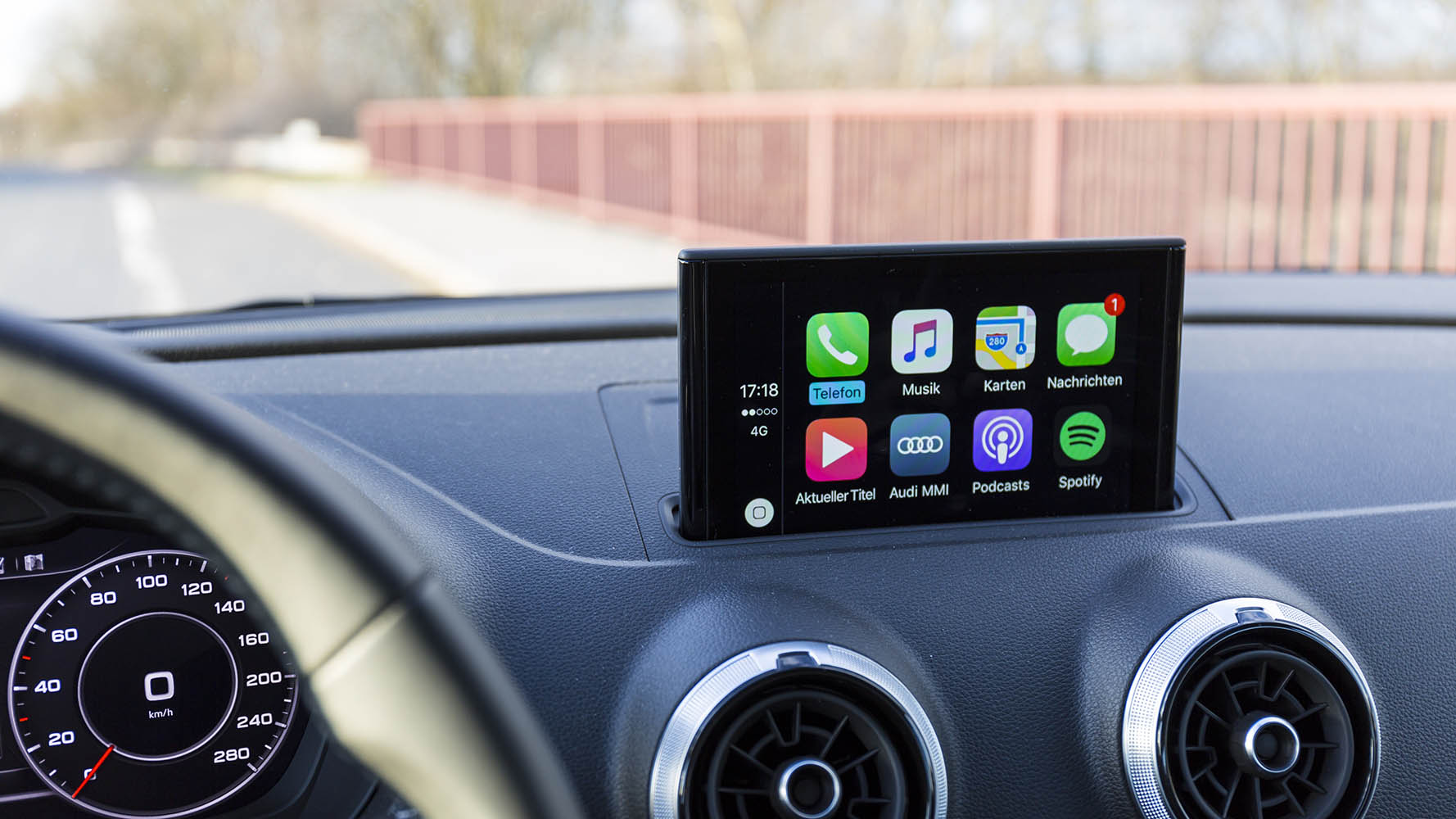 apple carplay on a touchscreen infotainment system