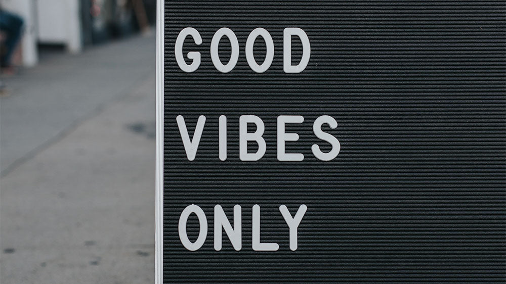 Board with Good Vibes Only