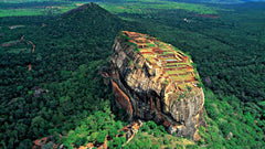 Sri Lanka Sigiriya, Historical place, tourist, ancient rock, The gardens of the Sigiriya City, World wonders