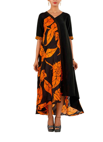 batik dress, organic dress, crackedtoperfection, women dress