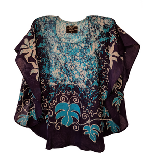 Bindu Blue Women Batik Top - ceylond