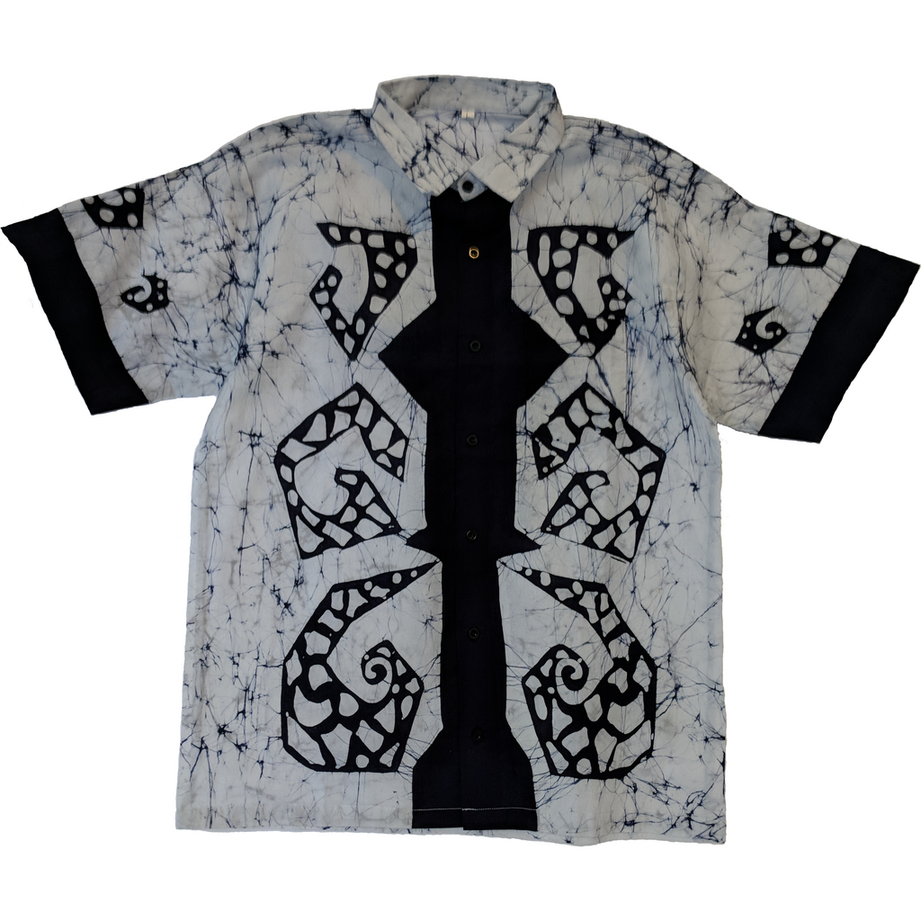 Geometry Men Batik Shirt - ceylond