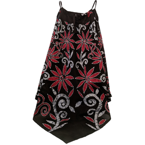 Flowers Women Batik Dress - ceylond