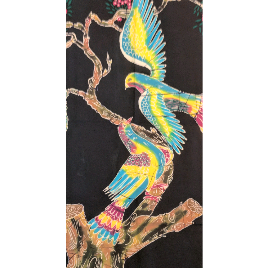 Love Birds Batik Art - ceylond