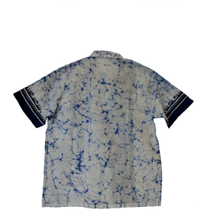 Ritual Blue-White Men Batik Shirt - ceylond