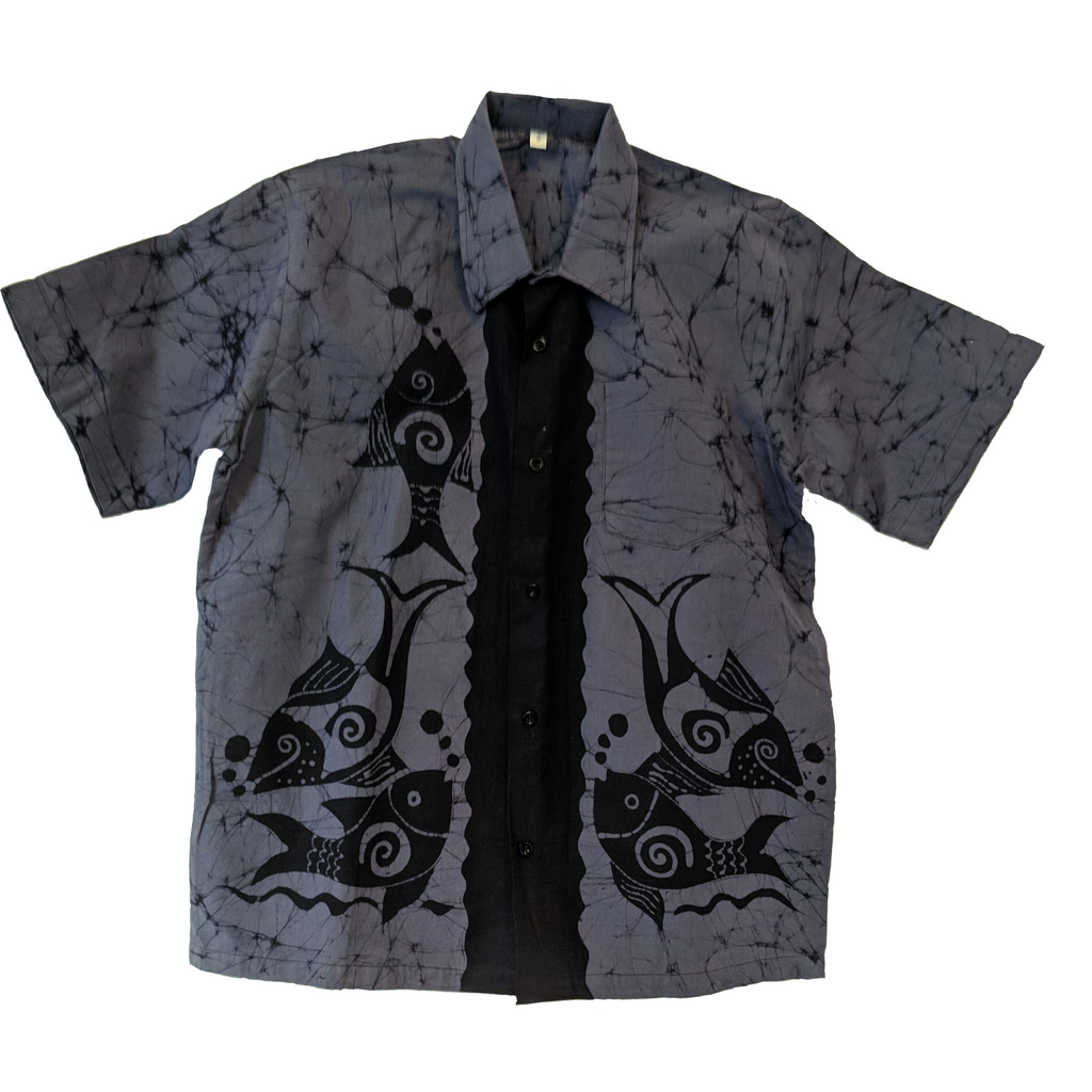 Blue Sea Men Batik Shirt - ceylond