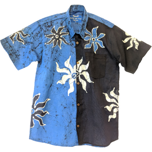 SunRay Blue Men Batik Shirt - ceylond