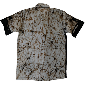 Ritual Brown Men Batik Shirt - ceylond