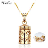 Hollow Out Filligree Perfume/Essential Oil Bottle Diffuser Necklace