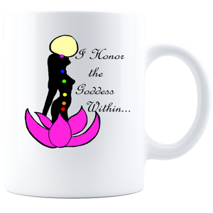 I honor the Goddess Within-Coffee Mug - White