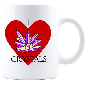 I love Crystals-Coffee Mug - White
