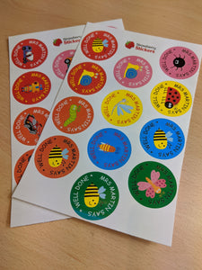 Personalised Teacher Reward Stickers