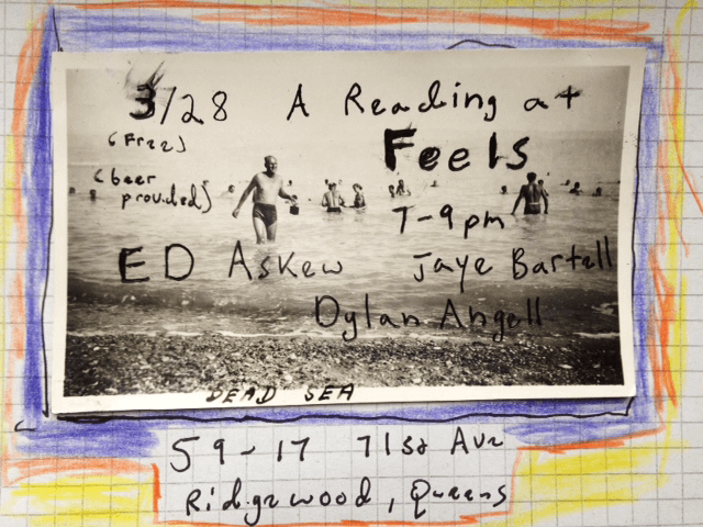 Reading at Feels NYC March 28th, 2019