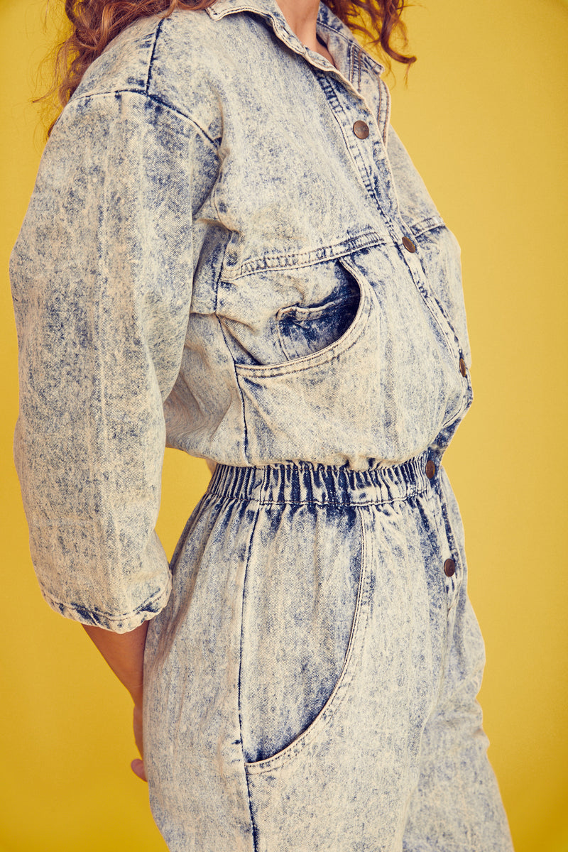 IDEAS Acid Wash Jumpsuit