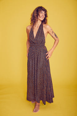 70s swing halter dress