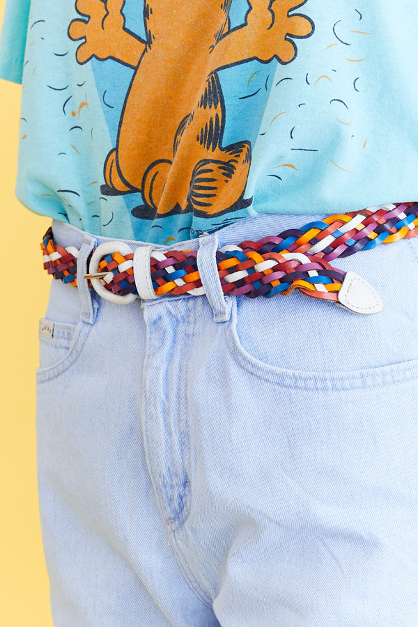 Multicolor Leather Belt