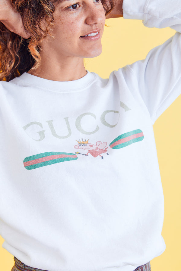 """Gucci"" & Peppa The Pig Sweatshirt"