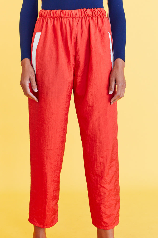 Red Windbreaker Pants