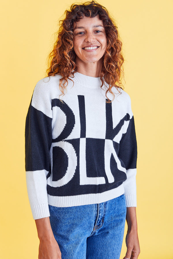 BLK/WHT Sweater