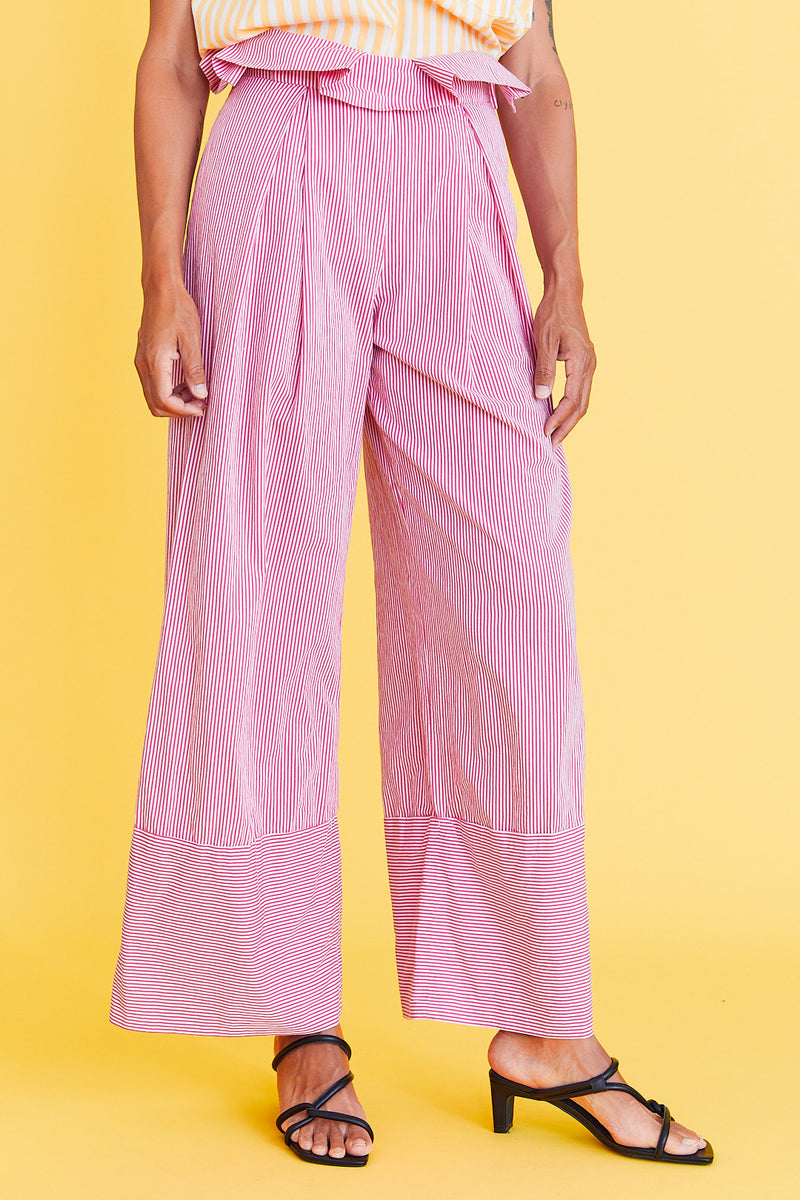 Pink and White Striped Carnival Pants