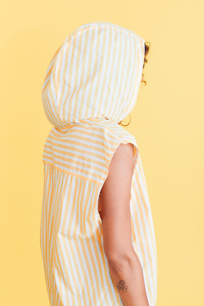 Yellow Striped Top with Hood
