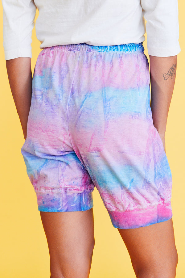 Tie-Dye Cotton Shorts