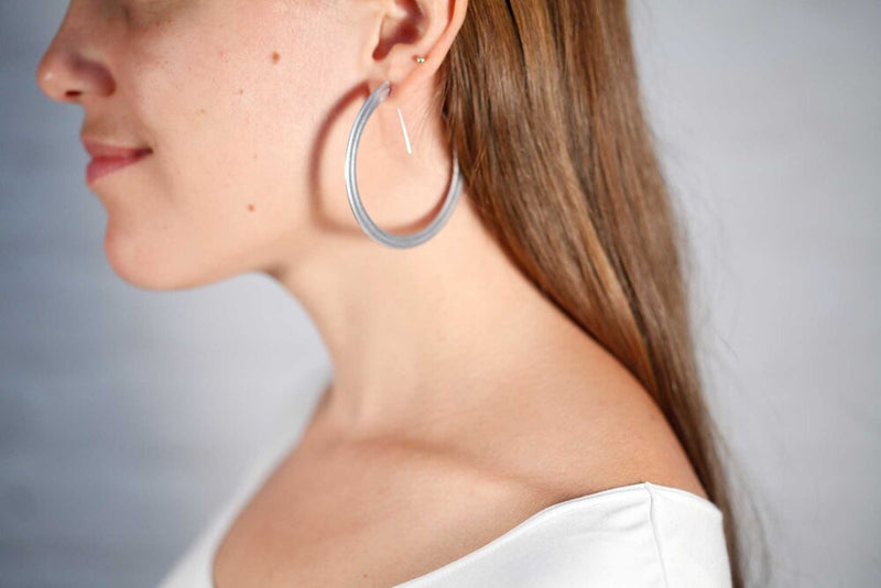 Medium Hoops by Lorelei Gruss