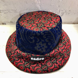 CADRE Bucket Hat: Velvet Paisley & Red Floral
