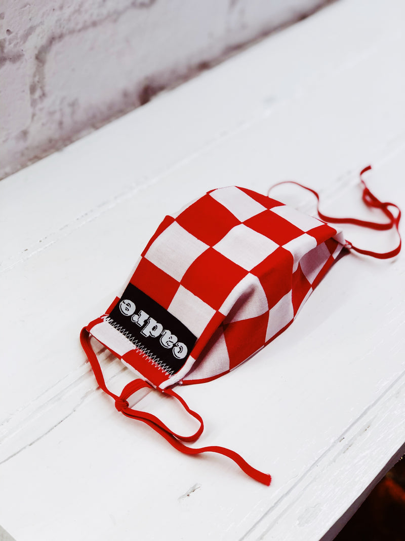 CADRE Face Mask (Checkers Red)