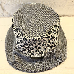 CADRE Bucket Hat: Navy & White Checkers
