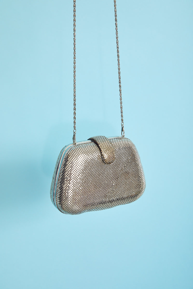 Silver Mesh Clutch to Purse