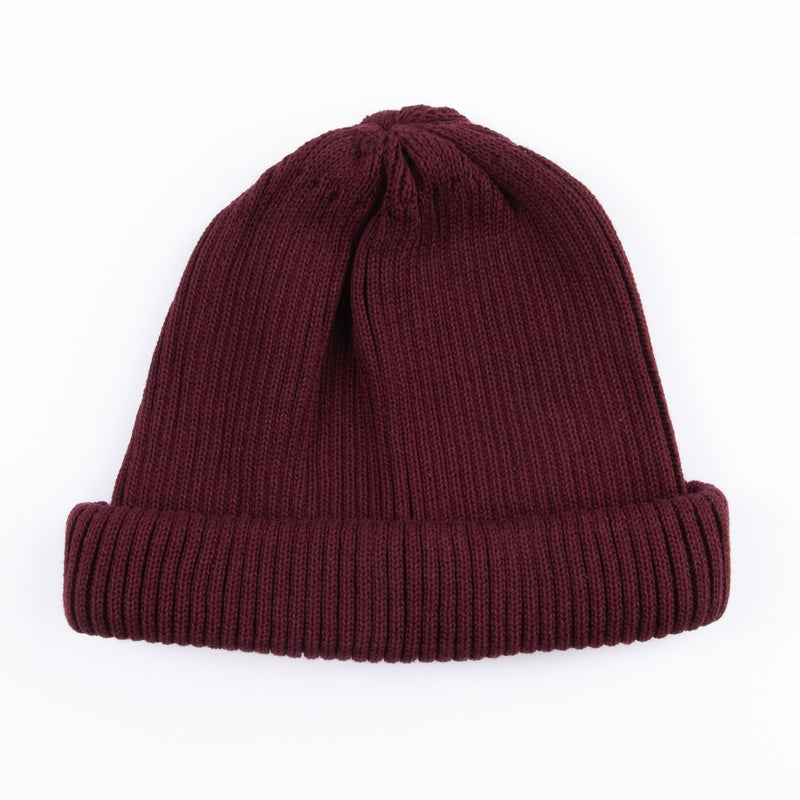 RoToTo Cotton Roll Up Beanie (Burgundy)