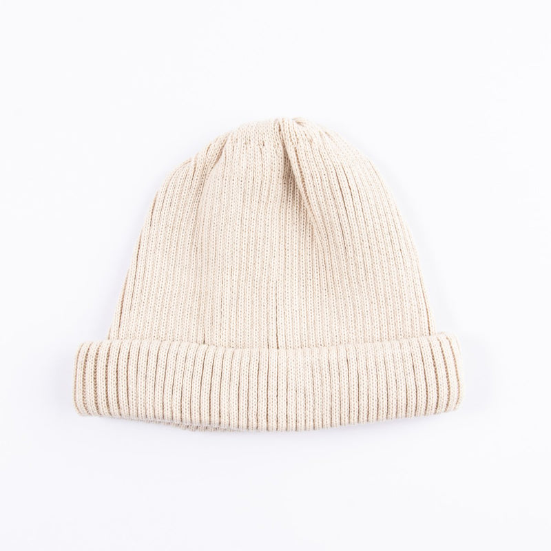 RoToTo Cotton Roll Up Beanie (Ivory)