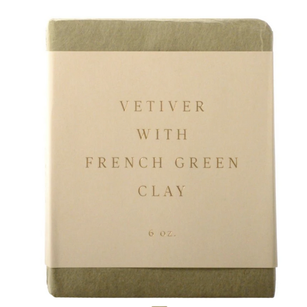 Vetiver w French Green Clay Soap Bar