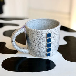 Geometric Big Mug by Arielle Teitcher (Blue)