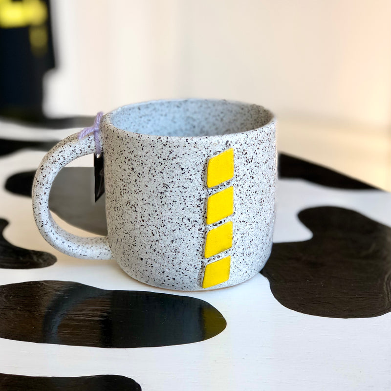 Geometric Big Mug by Arielle Teitcher (Yellow)