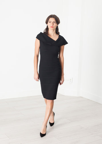 Copy of Asymmetric Dress in Black