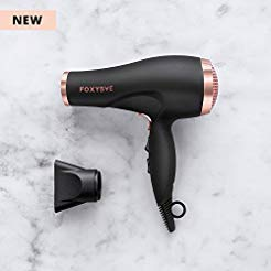 FoxyBae Blomance Professional Hair Dryer - Salon Grade Rose Gold and Black Ionic Blow Dryer - Ceramic Tourmaline and Negative Ion - Best Hair Dryers Styling Tools, Hot and Cold Air Function